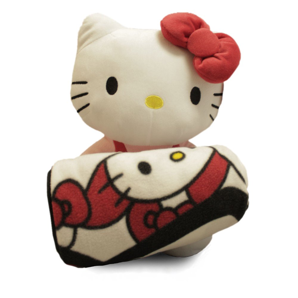 Sanrio Hello Kitty Large Plush and Fleece Throw Bed Blanket 2 pieces Set FAB Starpoint MKYO_66544