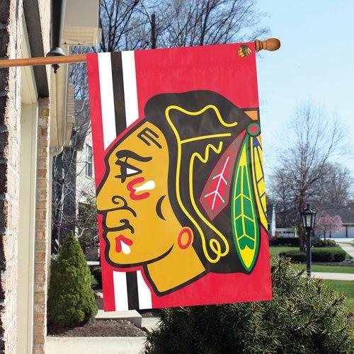Chicago Blackhawks BOLD LOGO 2x3 Banner Outdoor House Flag Hockey