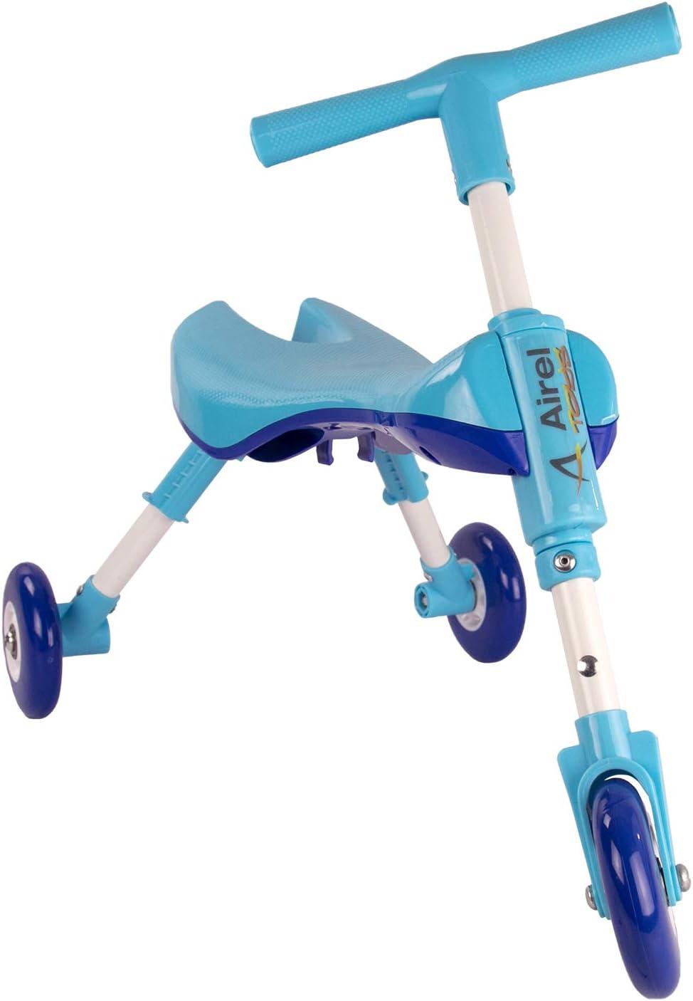 Airel Correpasillos Bebé Plegable | Triciclo Sin Pedales Infantil | De 1 a 3 años, Niños, Celeste, Talla Única