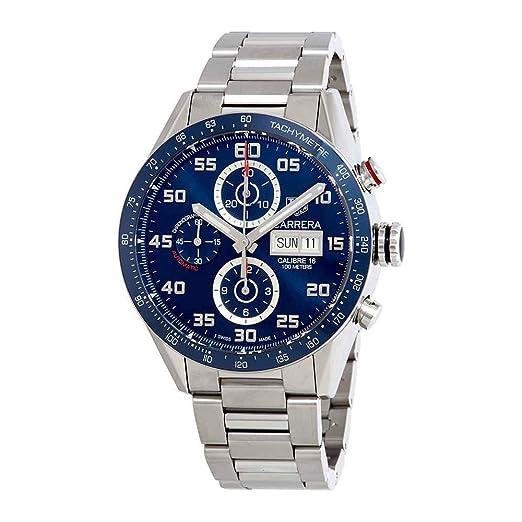 TAG HEUER CARRERA CALIBRE 16 CHRONOGRAFO AUTOMATICO CV2A1V.BA0738: Amazon.es: Relojes