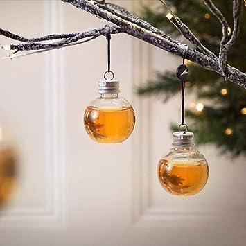 Nightmare Before Christmas Christbaumkugeln.Booze Filled Christmas Tree Ornaments Water Bottle Milk Juice Bulbs Cup 6 Pack