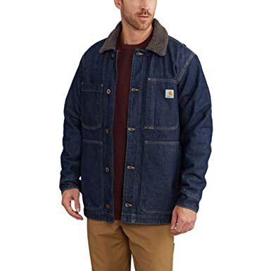 f93760f16d Carhartt Mens Full Swing Denim Chore Coat Denim 2X-Large at Amazon ...