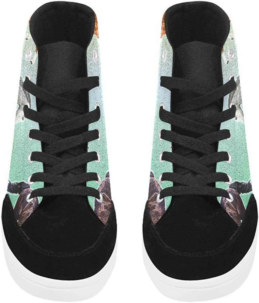 D-Story Custom Horse High Top Shoes for Men Canvas Shoes Fashion Sneaker