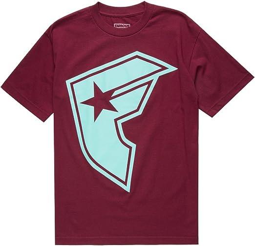 Famous Stars & Straps - Camiseta - Camisa - para Hombre Rojo Granate Large: Amazon.es: Ropa y accesorios