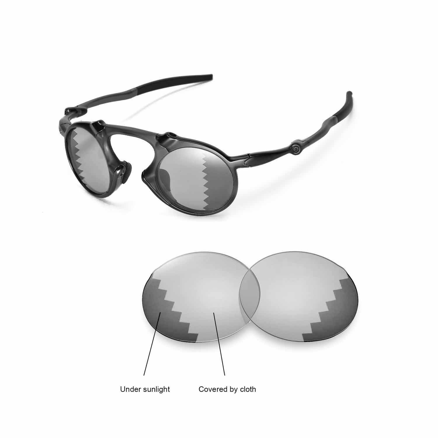 9f3c7cb762 Galleon - Walleva Replacement Lenses Oakley Madman Sunglasses - Multiple  Options Available (Transition photochromic - Polarized)