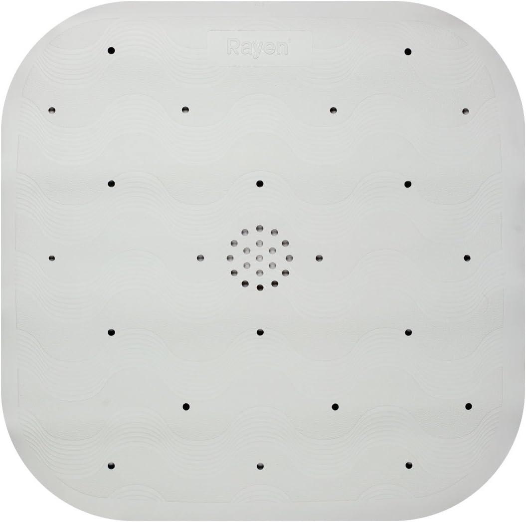 Rayen Duschmatte Mit Saugnäpfen Gummi Weiß 45 X 45 Cm Küche Haushalt