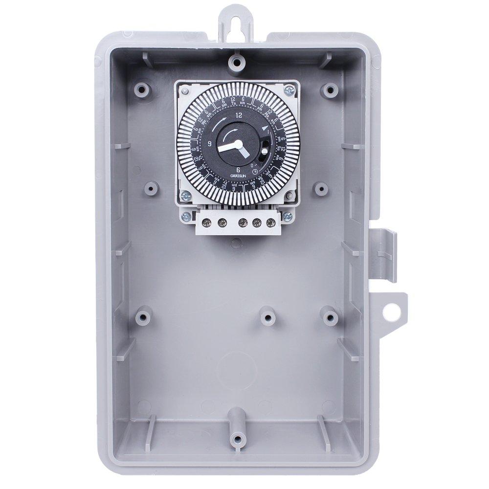 Grasslin by Intermatic GMXSW-I-120 60-Hertz Electromechanical Time Control with NEMA Indoor Plastic Enclosure