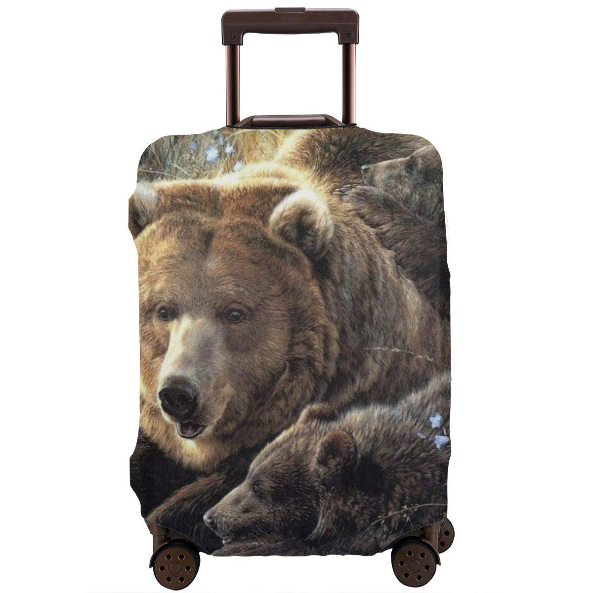 Bear Mom and Three BearBabies Zipper Suitcase Protector Luggage with Fixed Buckle Fits 18-32 Inch Luggage XL Yuotry Travel Luggage Cover