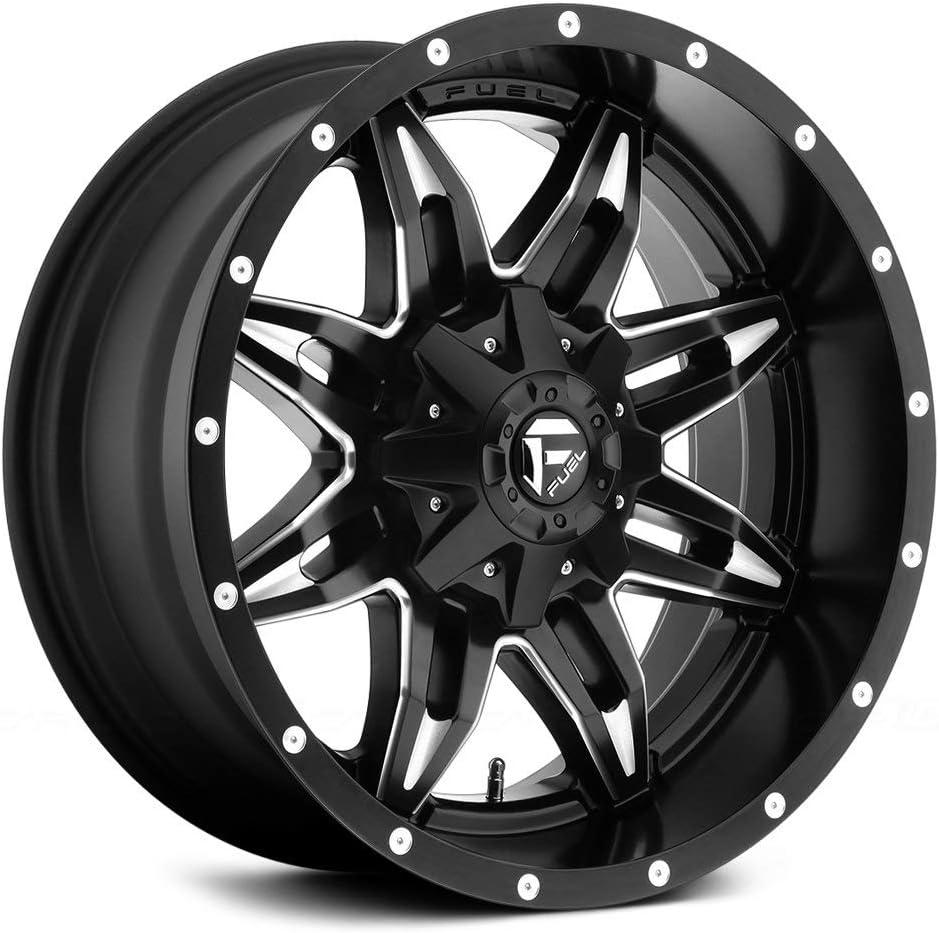 Fuel Offroad D567 Lethal 15x10 5x139.7-43mm Black//Milled Wheel Rim