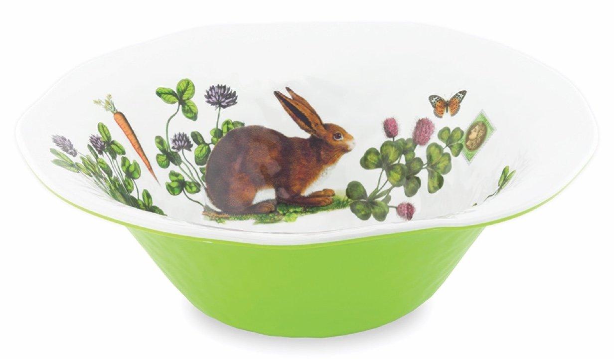 Michel Design Works Serveware Large Bowl, Garden Bunny