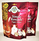 2 Pack Oxbow Animal Health Simple Rewards Veggie Treat for Pets (2 / 2.0 oz)