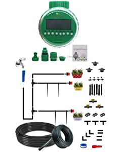CINAGRO™ - Drip Irrigation Kit for 100 Plants with Automatic Watering Timer