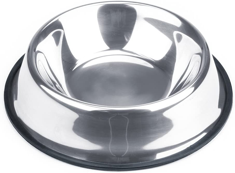 Weebo Pets Stainless Steel No-Tip Food Bowls - Choose Your Size, 4-Ounce to 72-Ounce