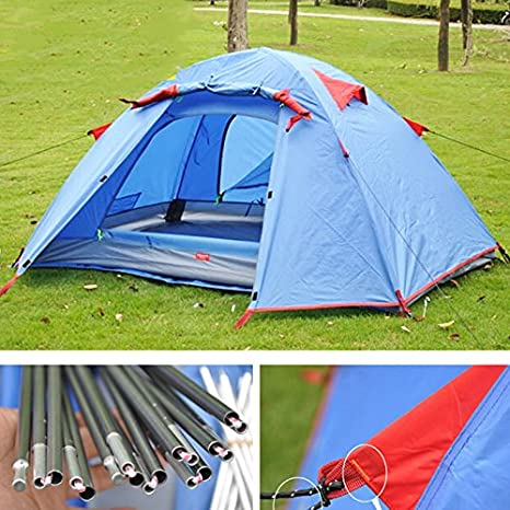 HWZPHH Tent,Wigwam,2 Person Double Layer Outdoor Camping