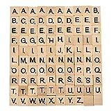 100pcs Polished Wooden Scrabble Tiles Letter Alphabet Scrabble Game Toys Set