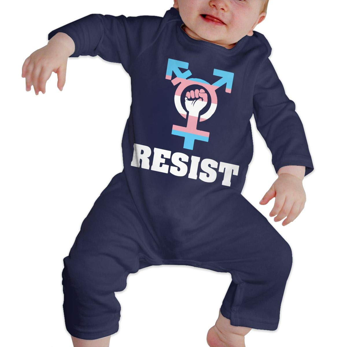 Mri-le1 Newborn Kids Organic Coverall Resist with Transgender Symbol Kid Pajamas