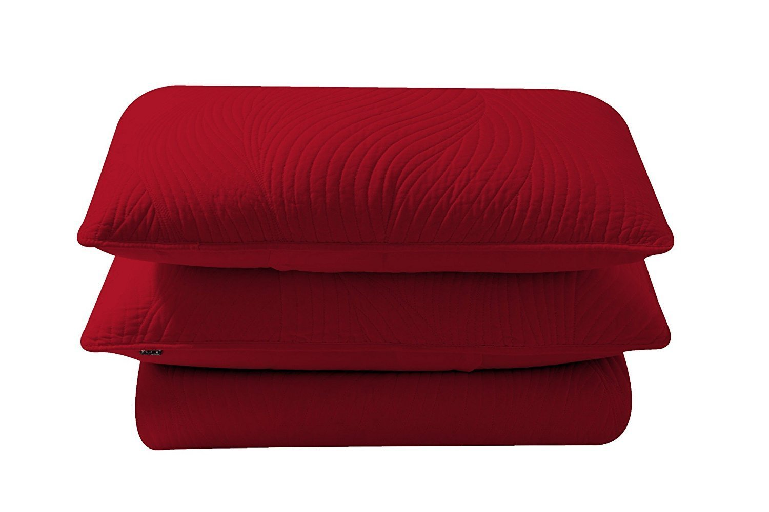 Brielle Stream Quilt and Sham Set, Twin, Red
