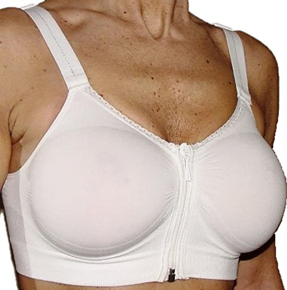 Amazon.com: CzSalus Post Breast Enlargement Zip Bra or Sport use: Sports & Outdoors