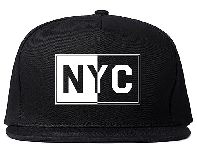 Amazon.com  Kings Of NY NYC Rectangle Graphic Snapback Hat Cap Black ... a9d105284fc