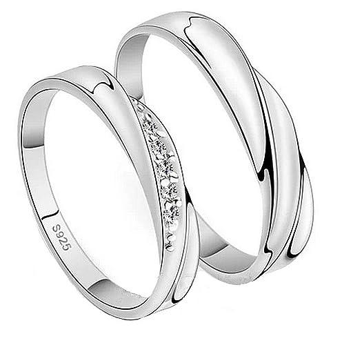 scarpe di separazione c7074 b3bb7 Infinite U - Set di 2 anelli per coppia, in argento Sterling ...