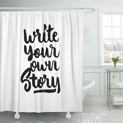 Amazon com: Emvency Waterproof Fabric Shower Curtain Hooks