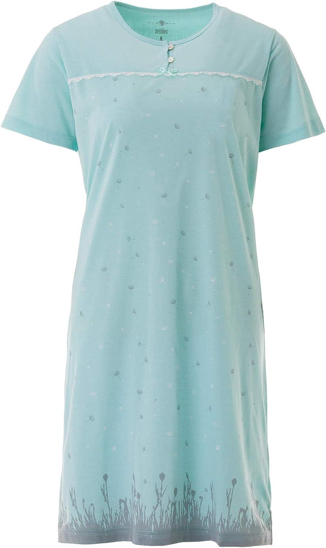 Damen Nachthemd Kurzarm Schlafshirt Schleife Kn/öpfe Zeitlos