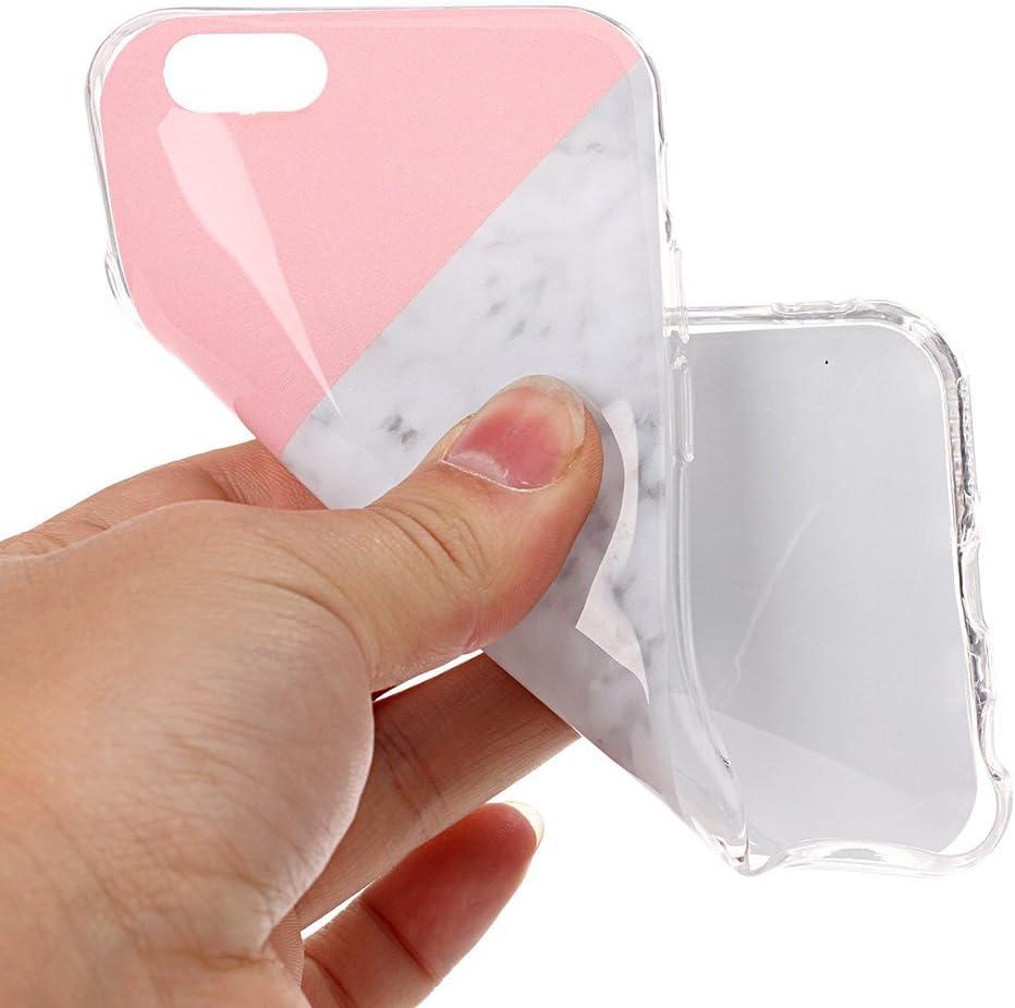 6S /Étui de t/él/éphone Ultra-Mince en Silicone Anti-Rayures Bo/îtier en Silicone Antichoc Fum/ée Marbre Blanc Laiteux et Autres Motifs Scrox Coque de t/él/éphone iPhone6