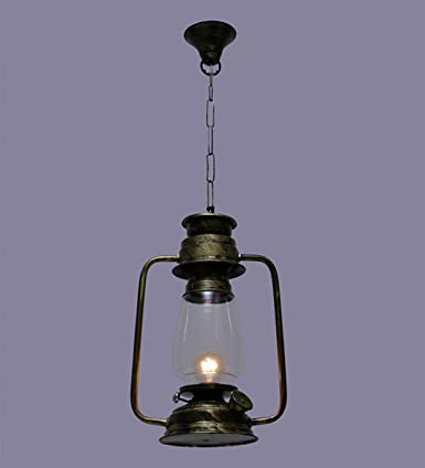 The Brighter Side Iron Antique Rustic hanging Lantern for Home, Office Decor Pendant Lights at amazon