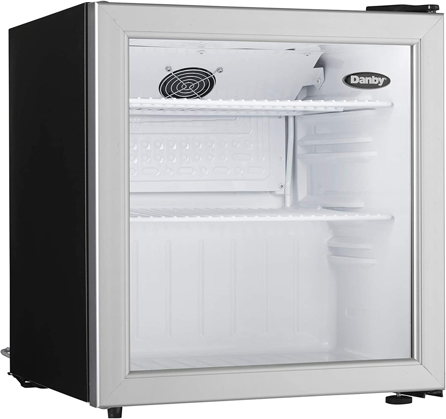 Danby DAG016A1BDB Commercial All Glass Door Compact Refrigerator, silver