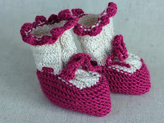 4af87a88b7ea Amazon.com  Knit baby girl booties New Born Holiday Clothing Gift ...