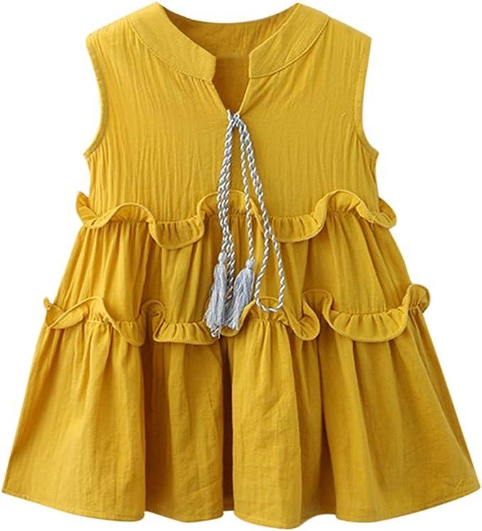Mitlfuny Primavera Verano Niñas Bebé Vestidos Oreja de Madera ...
