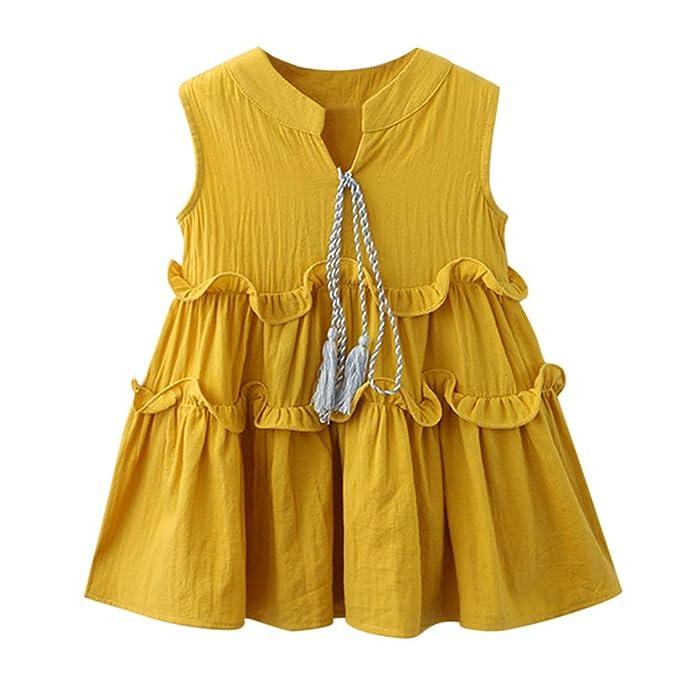 KIMODO Kleinkind Baby M/ädchen Kleid Blumen Spitze Kleider T/üll T/üt/ü Urlaub Prinzessin Sommerkleid Party Outfit Overall Kleidung