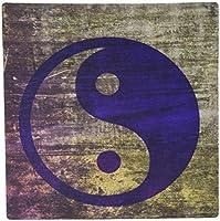 3dRose LLC 8 x 8 x 0.25 Inches Mouse Pad, Purple Abstract Yin Yang Balance Inspirational Spirituality (mp_38560_1)