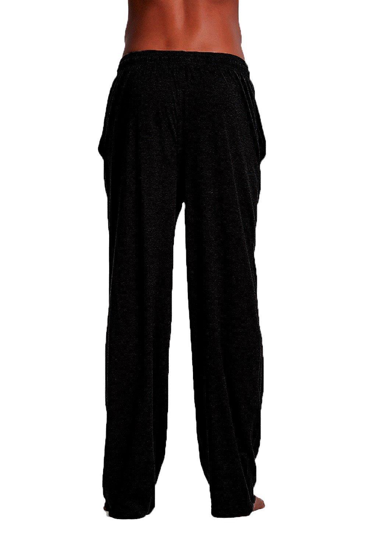 Andrew Scott Men's 6 Pack 100% Cotton Jersey Knit Yoga Lounge & Sleep Pajama Pants (6 Pack - Navy/Black/Royal/Hunter/White/Grey, Medium) by Andrew Scott (Image #2)