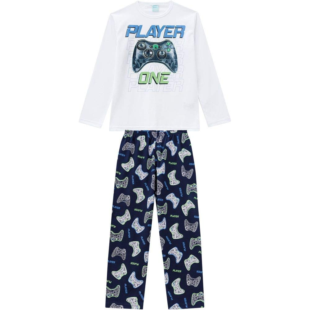 aebb672ad6bcb8 Pijama Infantil Masculino Blusa + Calça Kyly 207026.0001.6: Amazon ...