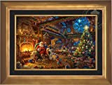 Thomas Kinkade - Santa's Workshop 24'' x 36'' Standard Number (S/N) Limited Edition Canvas (Aurora Gold Frame)