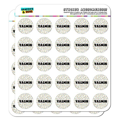 yasmin-name-scrapbooking-crafting-stickers-multicolored-speckles-50-1-stickers