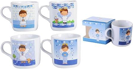DISOK - Taza Comunión Niño, presentada en Caja. Tazas niño comunion. Mug comuniones Originales. Recuerdos Tazas comunion. (1): Amazon.es: Hogar