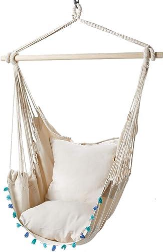 Fameil Hanging Rope Hammock Chair Swing Seat