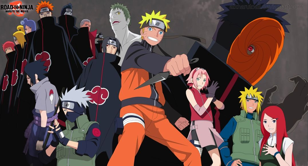 Road to Ninja Naruto the Movie (44x24 inch, 111x60 cm) Silk ...