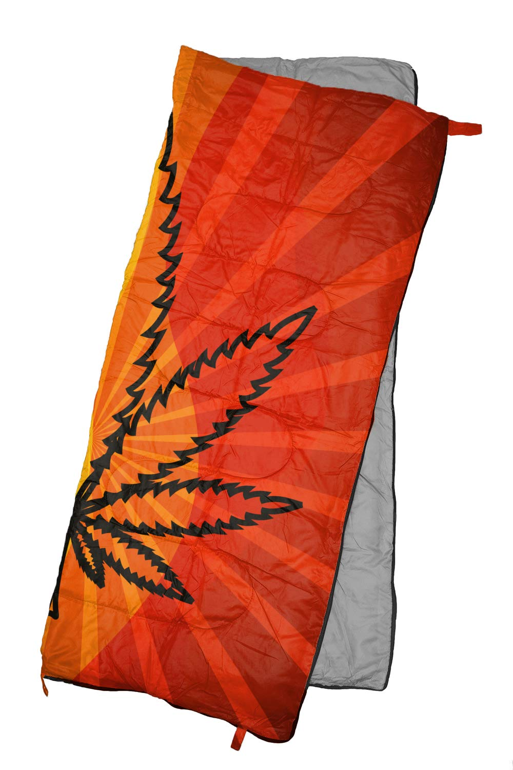 REVALCAMP Lightweight Sleeping Bag - Sunset Cannabis - Indoor & Outdoor use. Great for Kids, Teens & Adults. Ultra Light and Compact Bags are Perfect for Hiking, Backpacking, Camping & Travel.