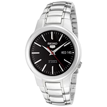 99e3e9b86 Image Unavailable. Image not available for. Color: Seiko 5 Men's SNKA07  Automatic Black Dial Stainless Steel Watch
