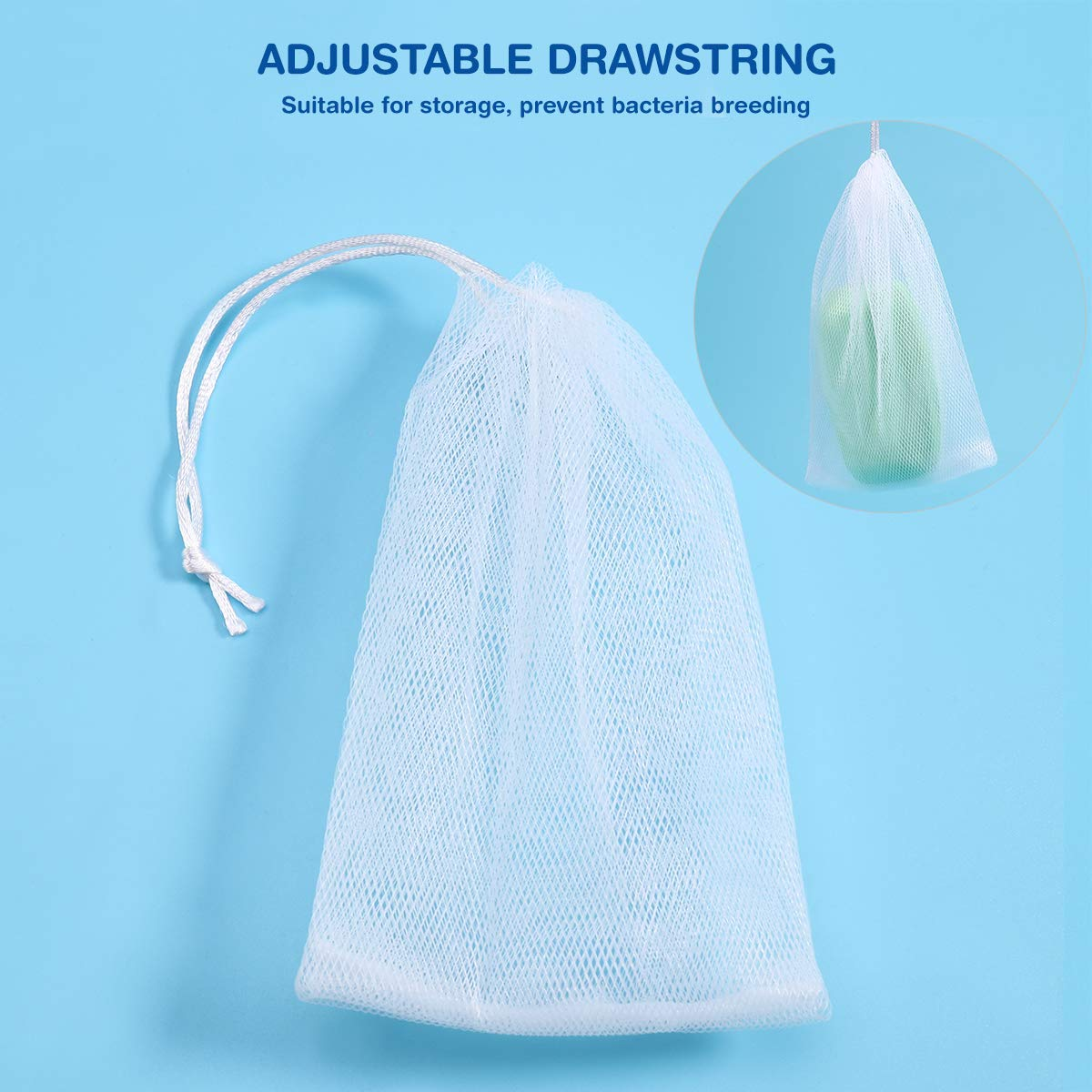 Exfoliating Mesh Soap Saver Pouch Bag Sack Sponge 10 PCS
