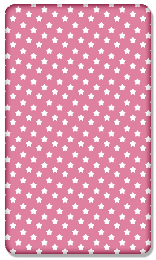 Zig zag 100/% COTTON FITTED SHEET WITH PRINTED DESIGN FOR BABY JUNIOR BED 160x80CM