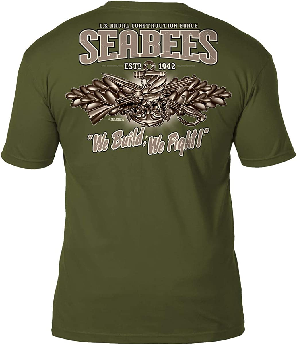 7.62 Design US Navy Seabees 'Vintage' Men's Battlespace T-Shirt