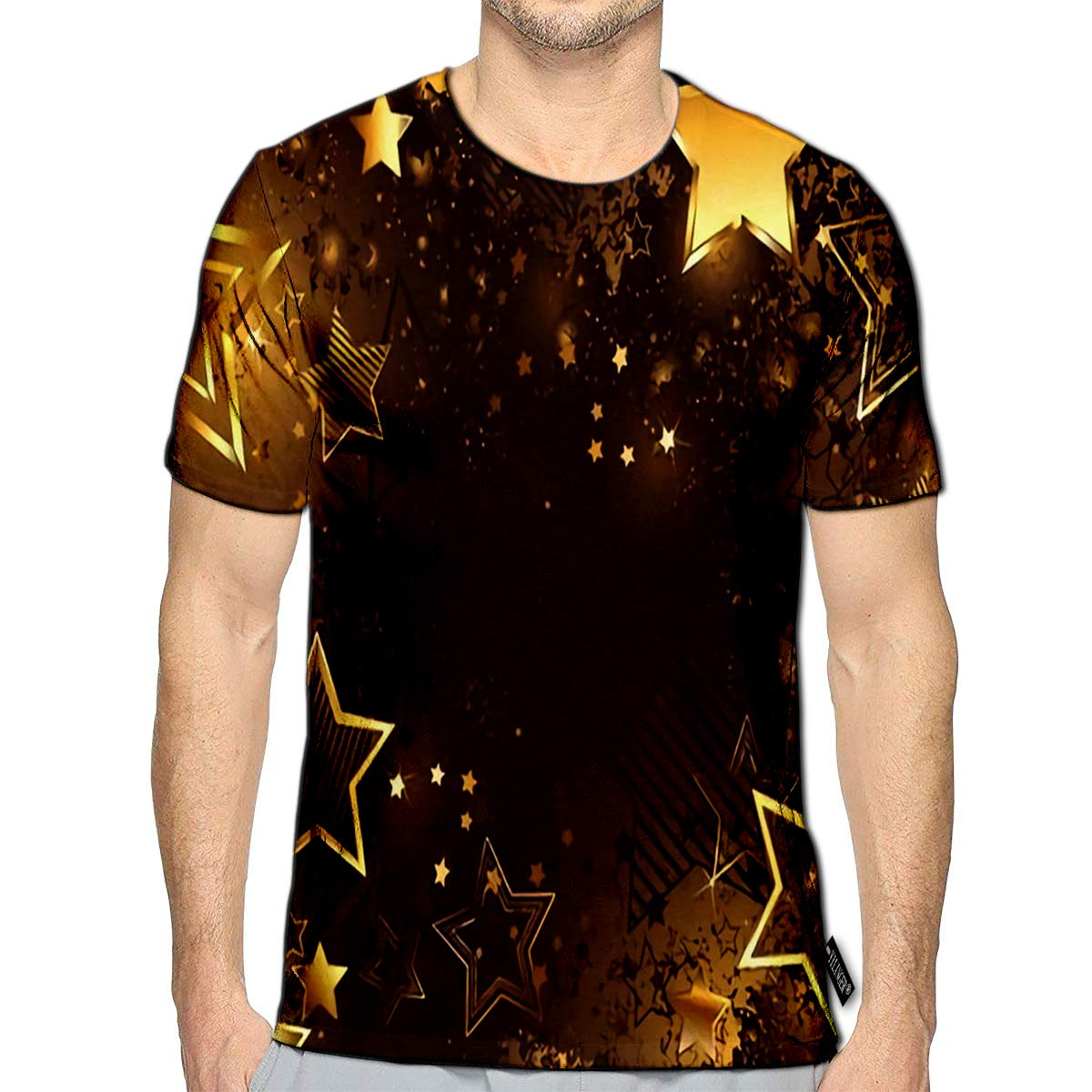 T-Shirt 3D Printed Abstract Floral with Tulips and Geometric Elements Casual Tees