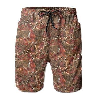 Aeykis Ciervos de Hierba roja con Estampado Holgado Pantalones de ...