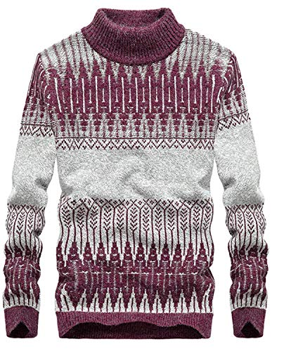 Hommes Cou Pullovers Rot Betrothales Pull Tricoté R 4Aqn1R