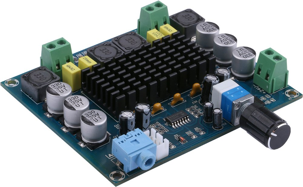 Yeeco Digital Power Amplifier Board, Dual Channel 120W+120W Audio Stereo Amplifier Amp Ampli Module, Audio Receiver for Home Theater Speaker DIY DC 12-24V Powered by Yeeco