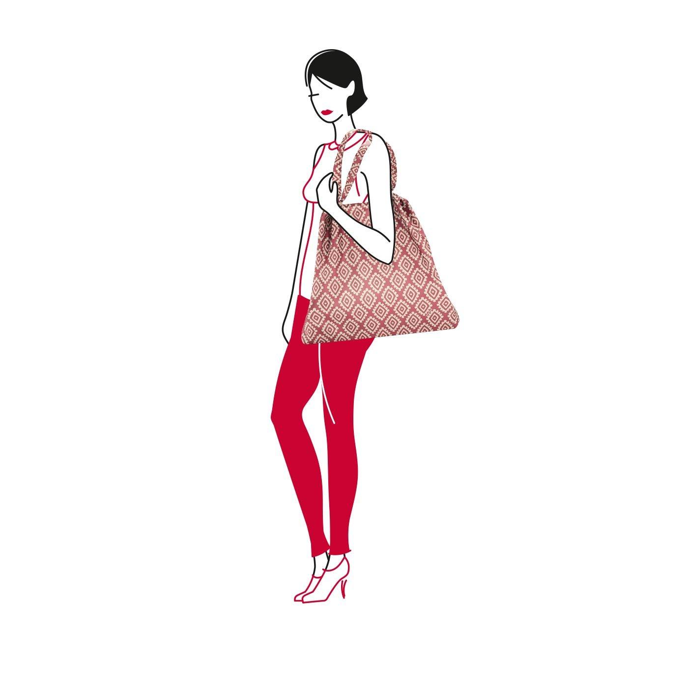 25 Liters Marr/ón Diamonds Mocha Reisenthel Mini Maxi loftbag Bolsa de Tela y Playa 64 cm